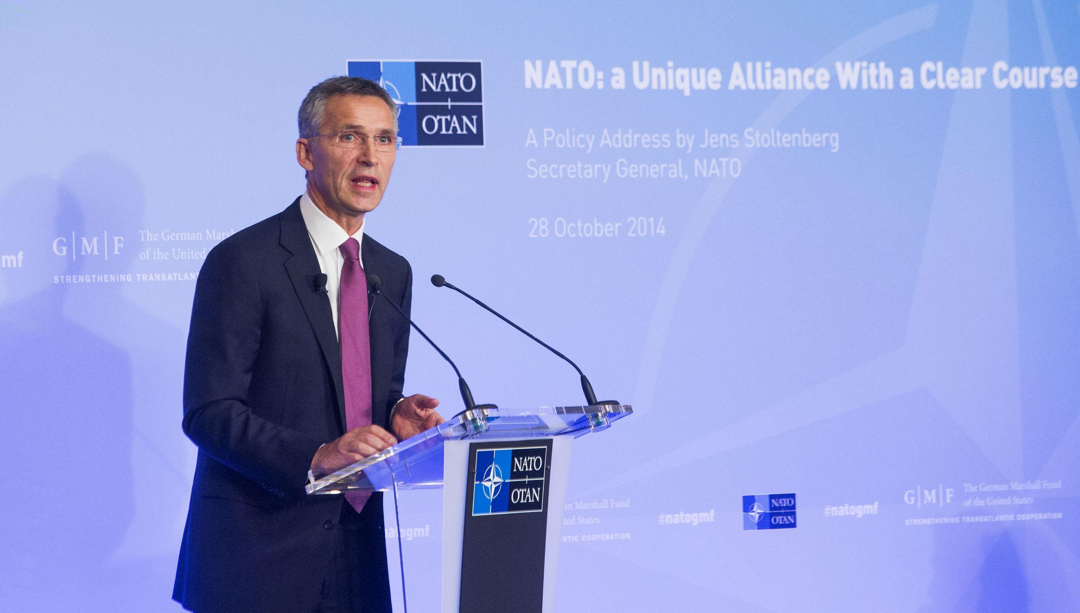 Prejav generálneho tajomníka NATO