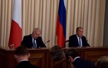 Tlačová konferencia S. Lavrova po rokovaní s ministrom zahraničných vecí Francúzska