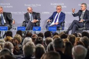 """Panelová diskusia  """"Can the great idea of Europe persist"""" /Stoltenberg, Schulz, Tusk/"""