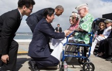 Prejav prezidenta USA B. Obamu a premiéra Japonska S. Abeho v Pearl Harbore