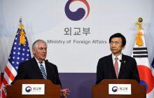 Tlačová konferencia W. Tillerson – Yun Byung-se