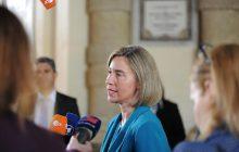 Tlačová konferencia F. Mogherini po rokovaní ministrov obrany EÚ