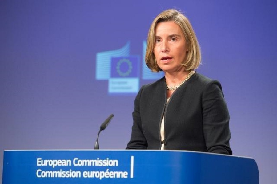 Tlačová konferencia F. Mogheriniovej po rokovaní Rady pre zahraničné veci EÚ