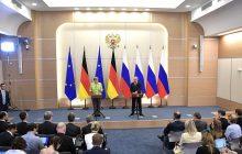 Spoločná tlačová konferencia V. Putina a A. Merkelovej /plné znenie/