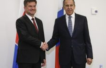 Rokovanie ministra zahraničných vecí RF S. Lavrova s ministrom zahraničných vecí SR M. Lajčákom