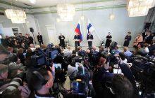 Spoločná tlačová konferencia prezidenta RF V. Putina a prezidenta Fínska S. Niinistoa