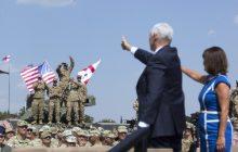 Spoločná tlačová konferencia viceprezidenta USA M. Penceho a premiéra Gruzínska G. Kvirikashviliho