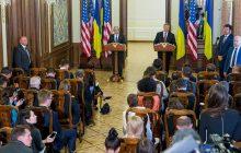 Spoločná tlačová konferencia prezidenta Ukrajiny P. Porošenka a ministra obrany USA J. Mattisa