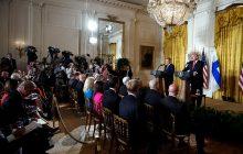 Spoločná tlačová konferencia prezidenta USA D. Trumpa a prezidenta Fínska S. Niinistöa