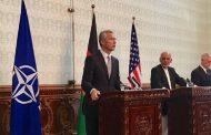Spoločná tlačová konferencia prezidenta Afganistanu, generálneho tajomníka NATO a ministra obrany USA