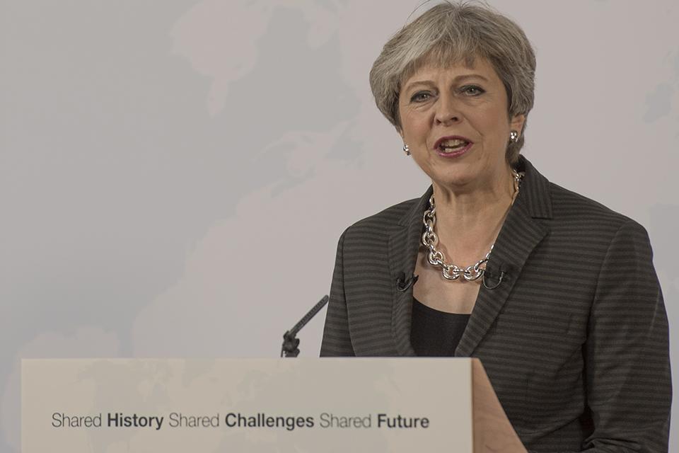 Prejav Theresy Mayovej vo Florencii o budúcnosti spolupráce Veľkej Británie a Európskej únie