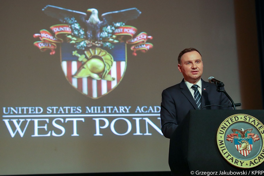 Prejav poľského prezidenta A. Dudu na vojenskej akadémii vo West Pointe /plné znenie/