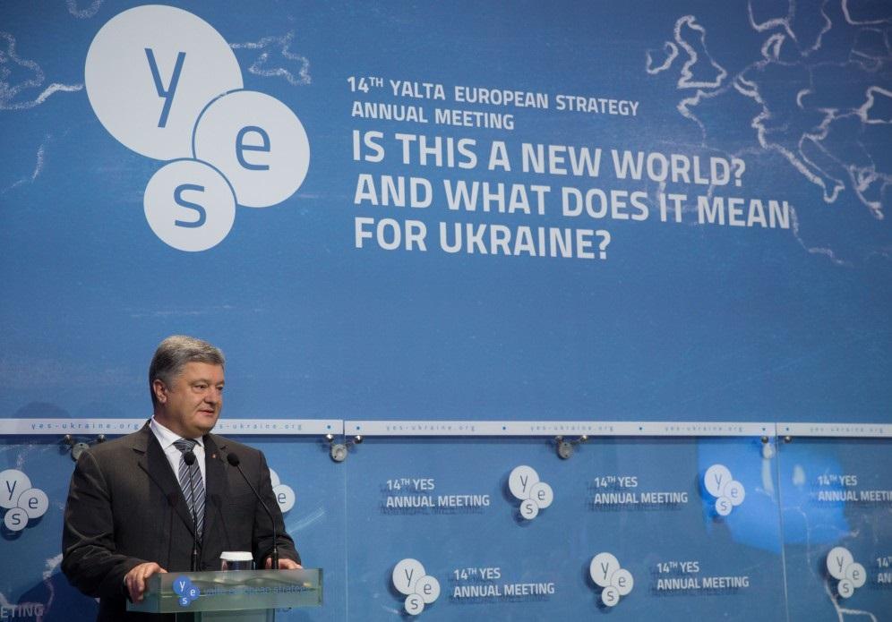 Prejav ukrajinského prezidenta P. Porošenka na 14. európskom strategickom zhromaždení na Jalte