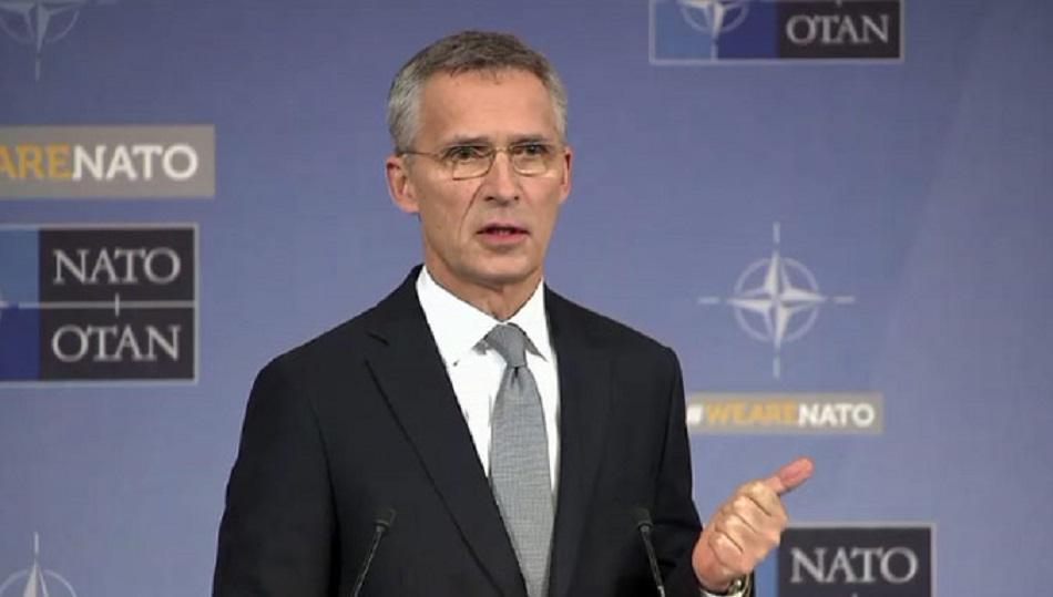 Tlačová konferencia GT NATO J. Stoltenberga po rokovaní ministrov obrany