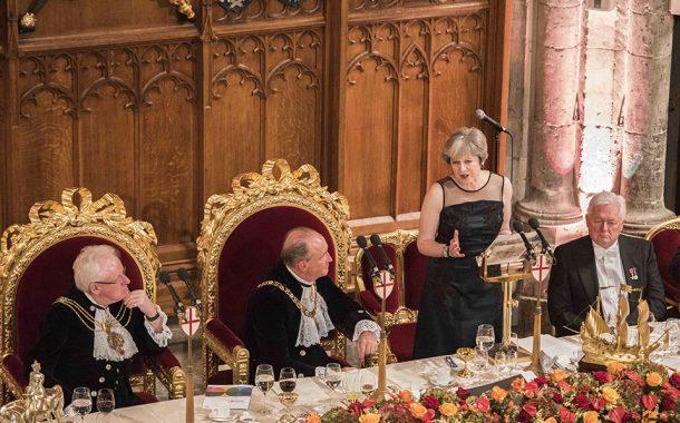 Prejav britskej premiérky T. Mayovej na Lord Mayor's Banquet