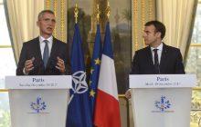 Spoločná tlačová konferencia francúzskeho prezidenta E. Macrona a GT NATO J. Stoltenberga