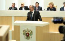 Hodina otázok a odpovedí ministra zahraničných vecí RF S. Lavrova v ruskom parlamente