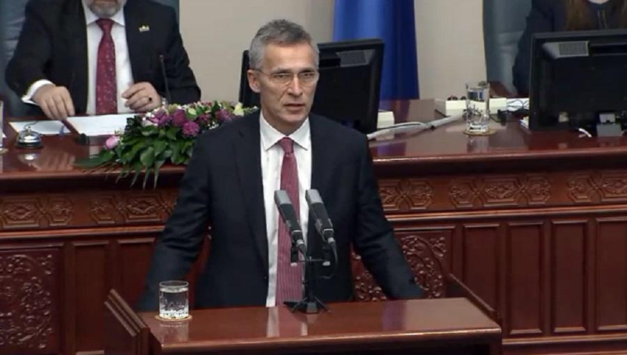 Prejav generálneho tajomníka NATO J. Stoltenberga v macedónskom parlamente