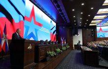 Vystúpenie prezidenta Ruska V. Putina na konferencii o výsledkoch operácie vSýrii