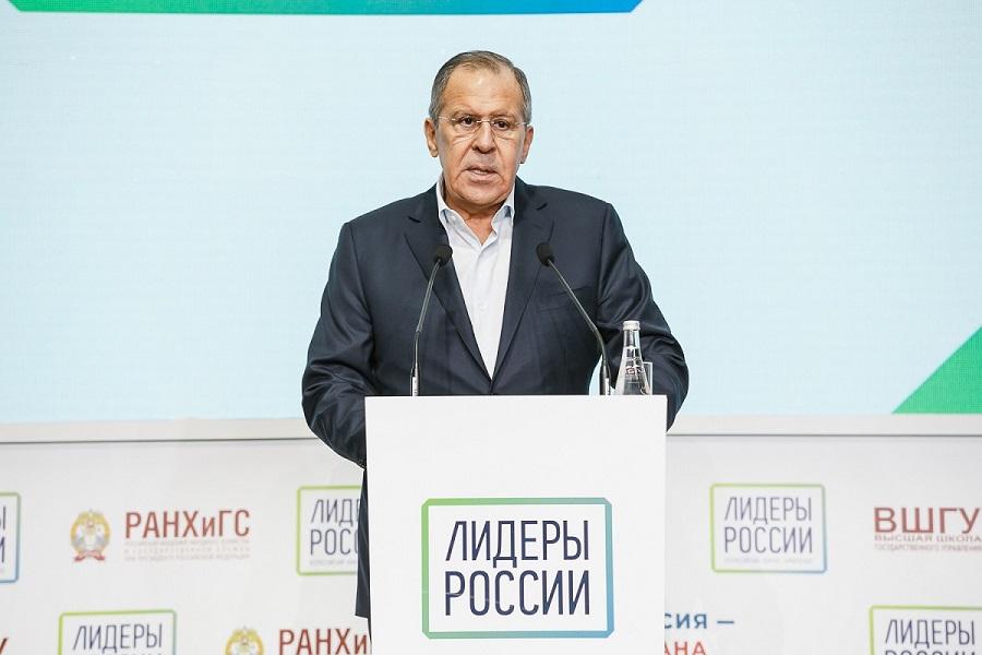 Prejav ministra zahraničných vecí RF S. Lavrova na stretnutí finalistov súťaže lídrov Ruska