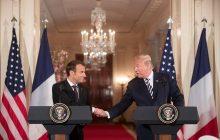 Spoločná tlačová konferencia prezidenta USA D. Trumpa a prezidenta Francúzska E. Macrona
