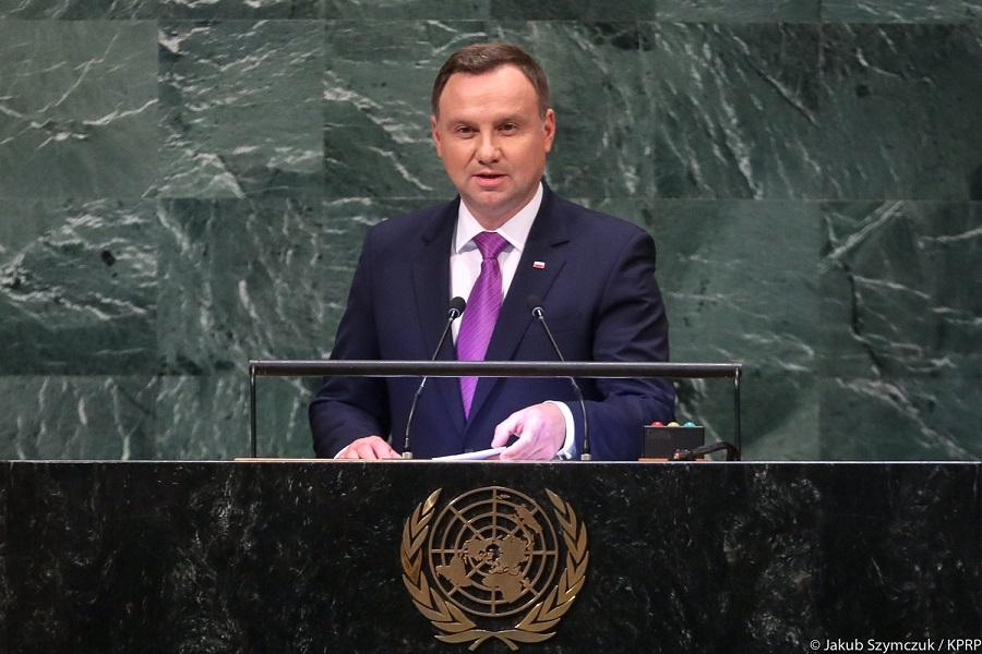 Vystúpenie poľského prezidenta A. Dudu v OSN
