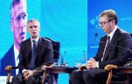 Panelová diskusia GT NATO J. Stoltenberga  a prezidenta Srbska A. Vučiča
