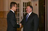 Tlačová konferencia ministra zahraničných vecí USA M. Pompea a ministra zahraničných vecí Maďarska P. Szijjartóa