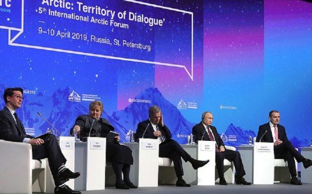 Vystúpenie prezidenta RF V. Putina  a ministra zahraničných vecí S. Lavrova na medzinárodnom fóre o Arktíde