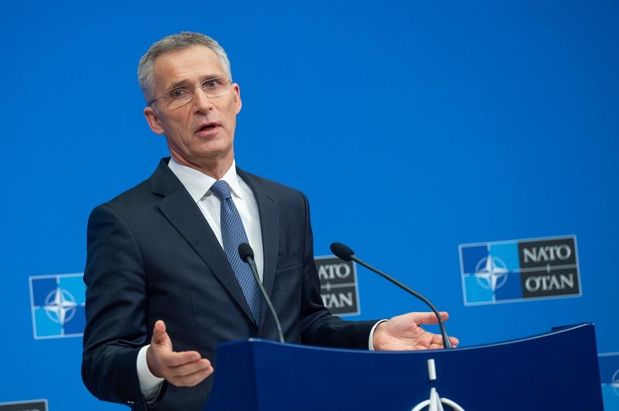 Tlačová konferencia GT NATO J. Stoltenberga po rokovaní ministrov obrany členských krajín aliancie