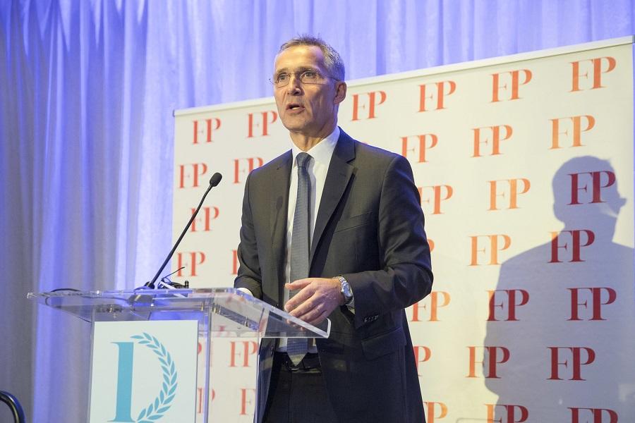 """Prejav J. Stoltenberga pri príležitosti udelenia ceny """"Diplomat roka""""  od časopisu """"Foreign Policy"""""""