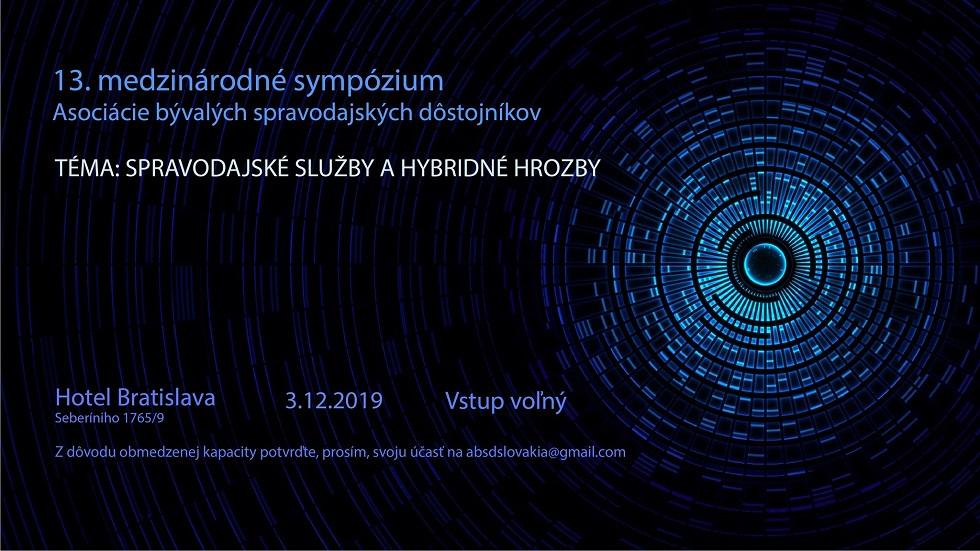 """""""Spravodajské služby a hybridné hrozby"""" /XIII. medzinárodné sympózium/"""
